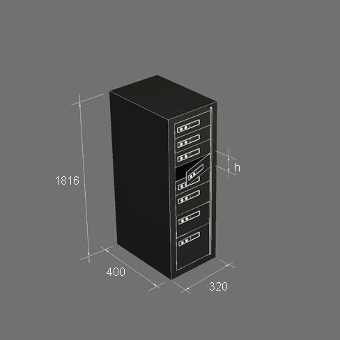 Депозитни касети Мерки